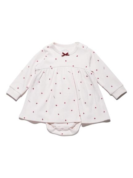 【BABY】華夫格草莓連身衣
