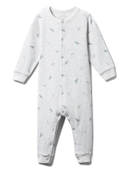 【BABY】華夫格小恐龍連身衣