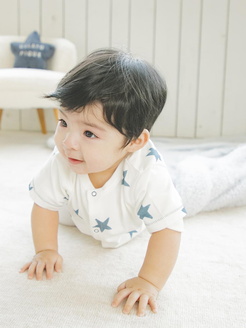 【BABY】星星印花 嬰兒連身衣