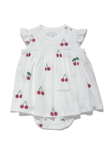 【BABY】櫻桃圖案 嬰兒連身衣