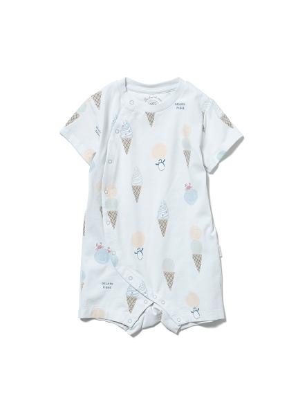 【BABY】冰淇淋動物印花 涼感連身衣
