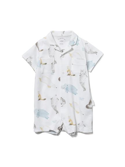 【BABY】【旭山動物園】動物印花 嬰兒連身衣