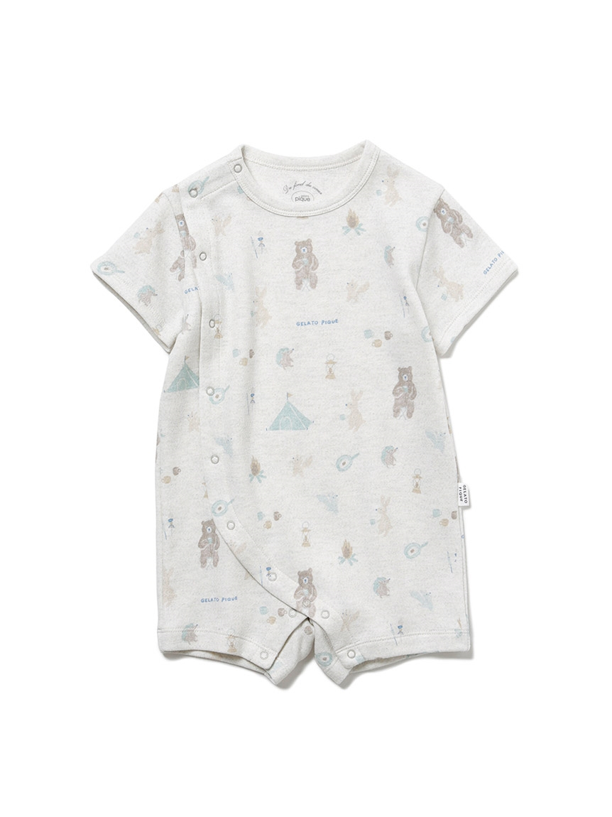 【BABY】動物露營趣 印花連身衣