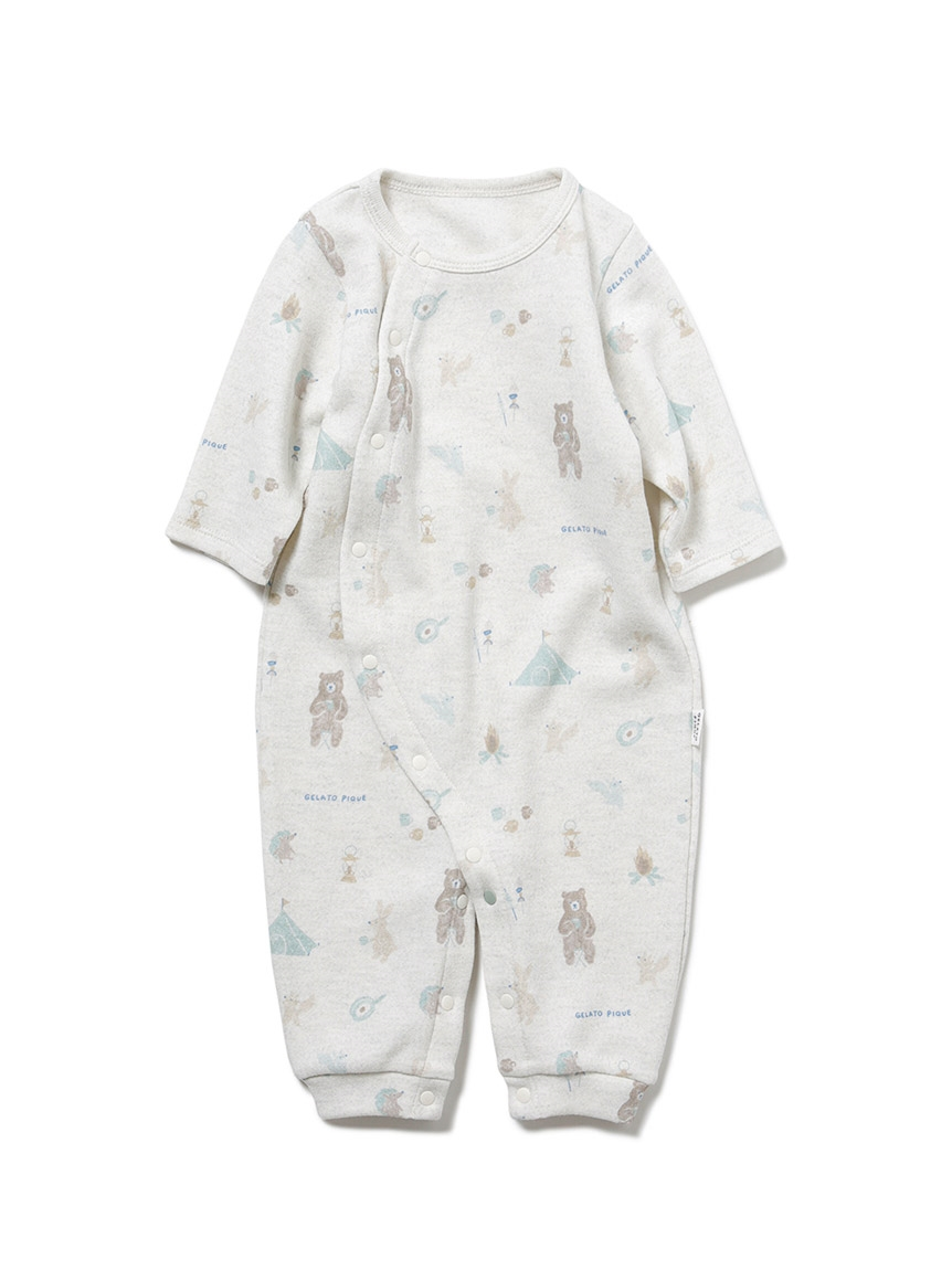 【BABY】動物露營趣 新生兒2穿連身衣