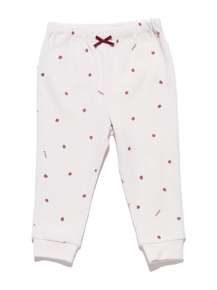 【BABY】華夫格草莓長褲