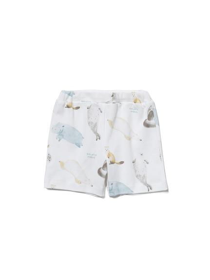 【BABY】【旭山動物園】動物印花 嬰兒短褲