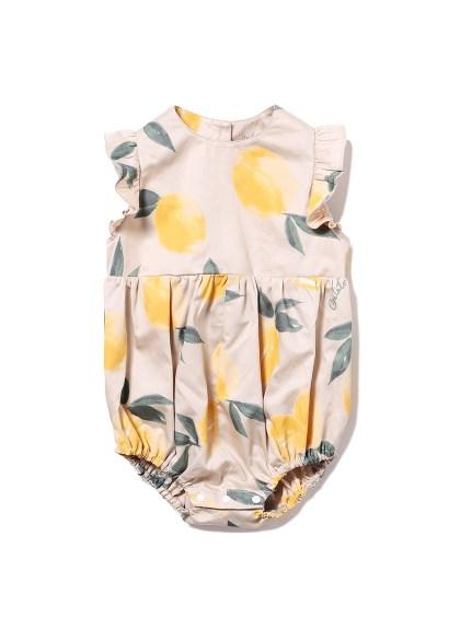 【BABY】水果印花嬰兒荷葉邊連身衣