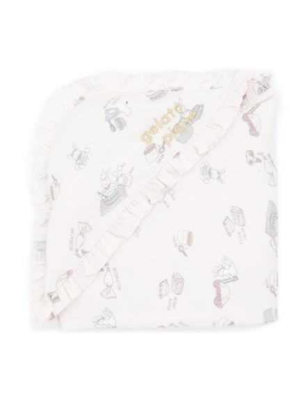 小兔子蛋糕baby包巾