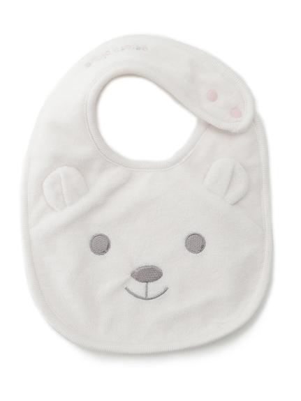 白熊造型baby圍兜兜