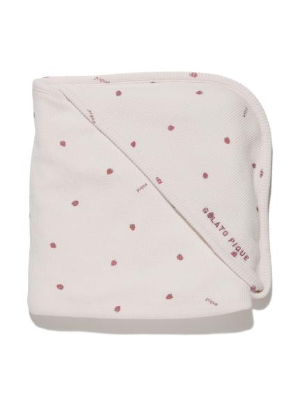 【BABY】華夫格草莓小毯子