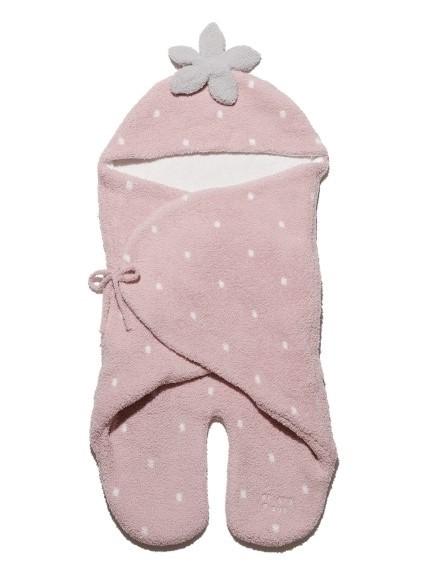 【BABY】'baby moco'草莓嬰兒包巾