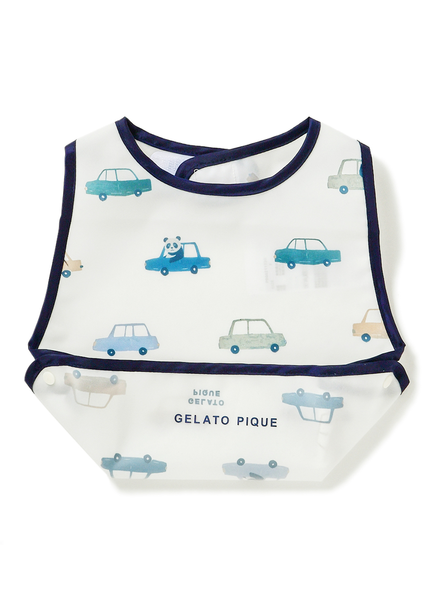 【BABY】熊貓車車嬰兒吃飯圍兜兜