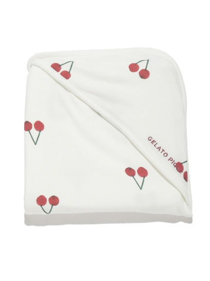 【BABY】櫻桃圖案 嬰兒小毯