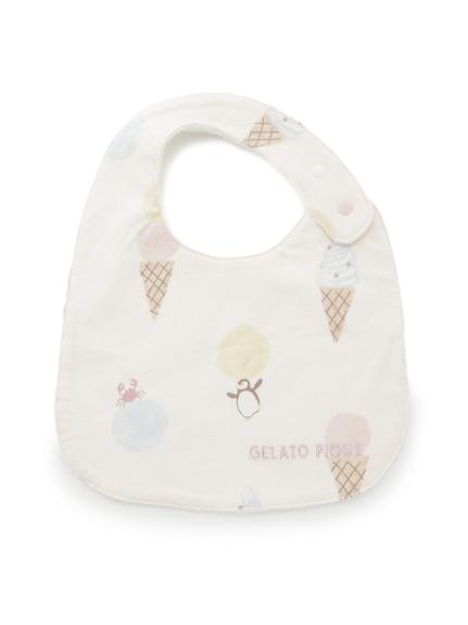 【BABY】冰淇淋動物印花 口水巾