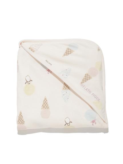 【BABY】冰淇淋動物印花 嬰兒小毯