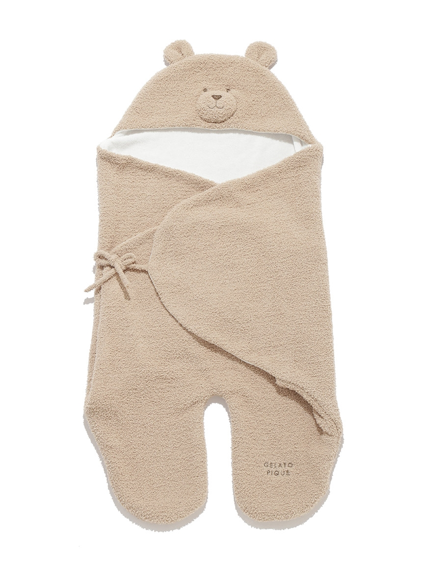 【BABY】baby moco 小熊餅乾嬰兒包巾