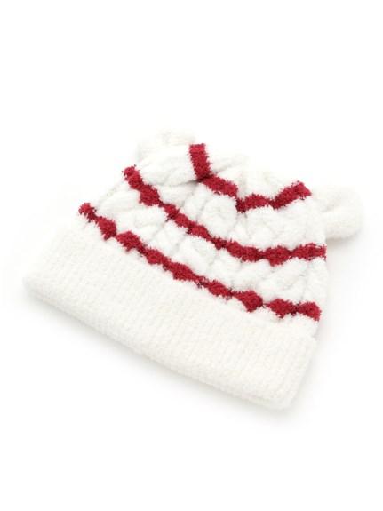 麻花條紋baby帽子