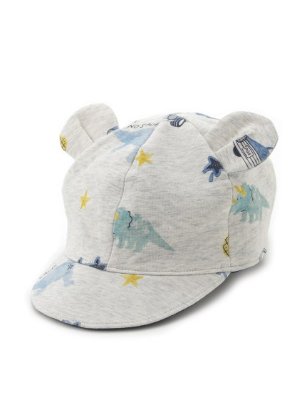 boys' favorite印花熊耳造型baby帽子
