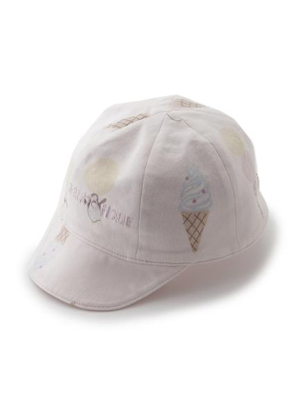 【BABY】冰淇淋動物印花 嬰兒遮陽帽