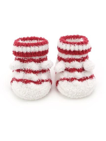 麻花條紋baby襪子