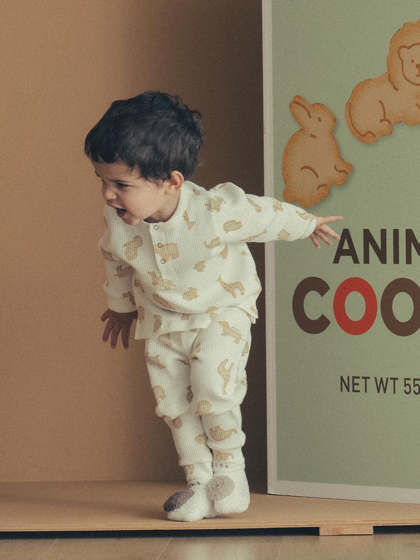 【BABY】baby moco 小熊餅乾嬰兒襪