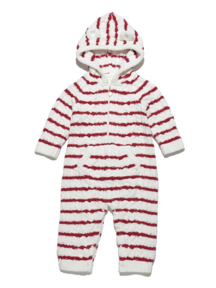 麻花條紋baby連身衣