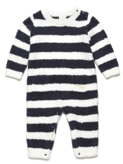 ' babymoco ' 2條紋LOGO baby連身衣