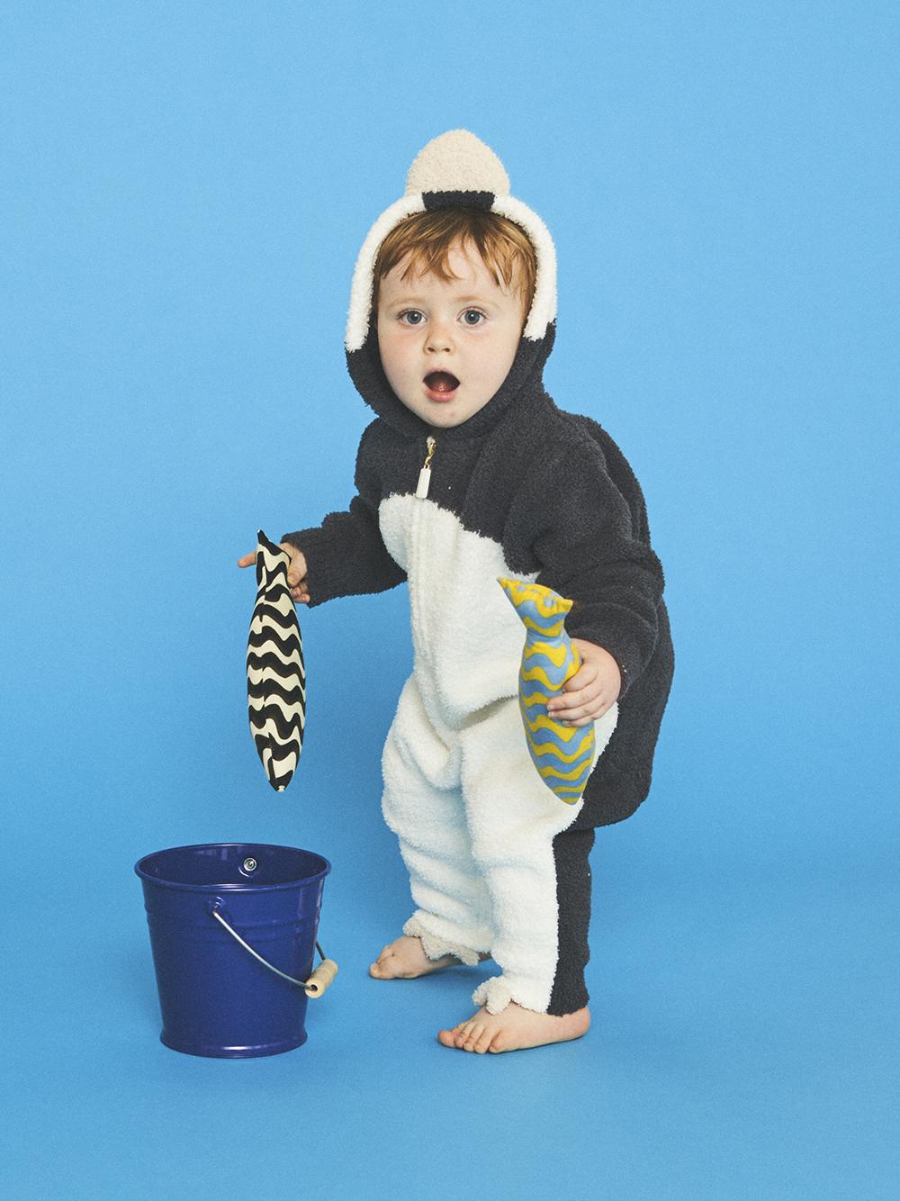【BABY】旭山動物園 企鵝連身衣