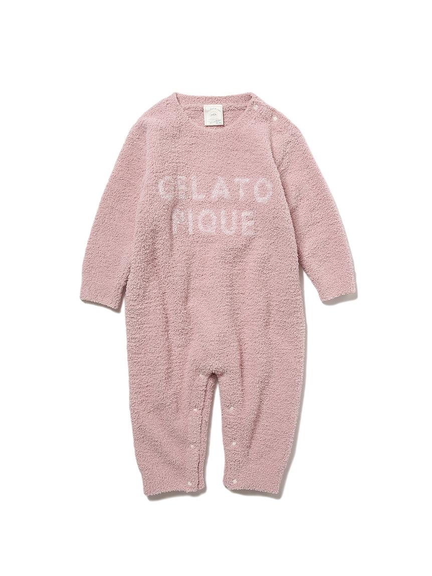【BABY】baby moco LOGO緹花連身衣