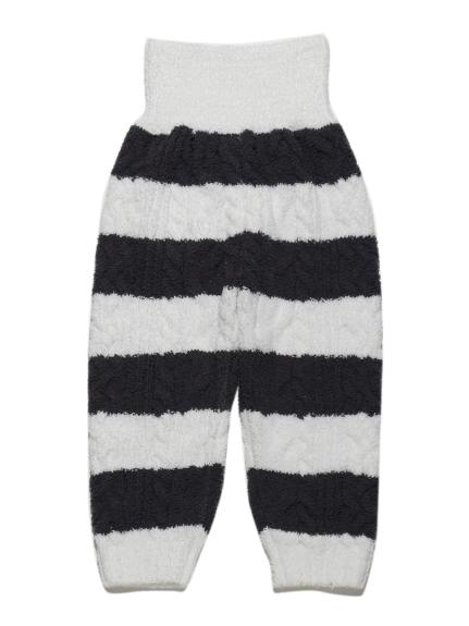 寬條紋麻花編織baby長褲
