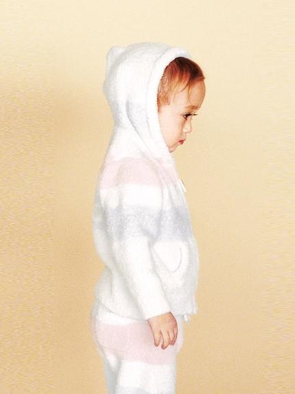 'Baby moko'四條紋baby連帽外套