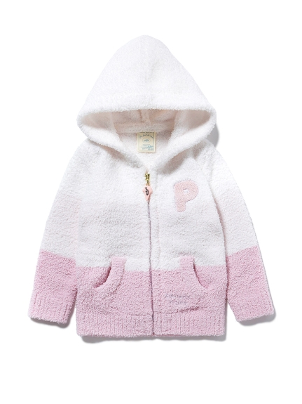 """baby moko ""寬條紋baby連帽外套"
