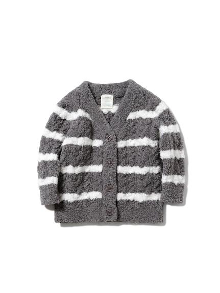 baby 橫條紋編織外套