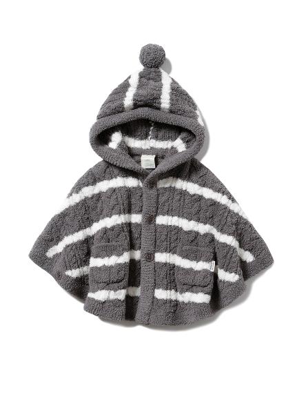 baby 橫條紋編織斗篷