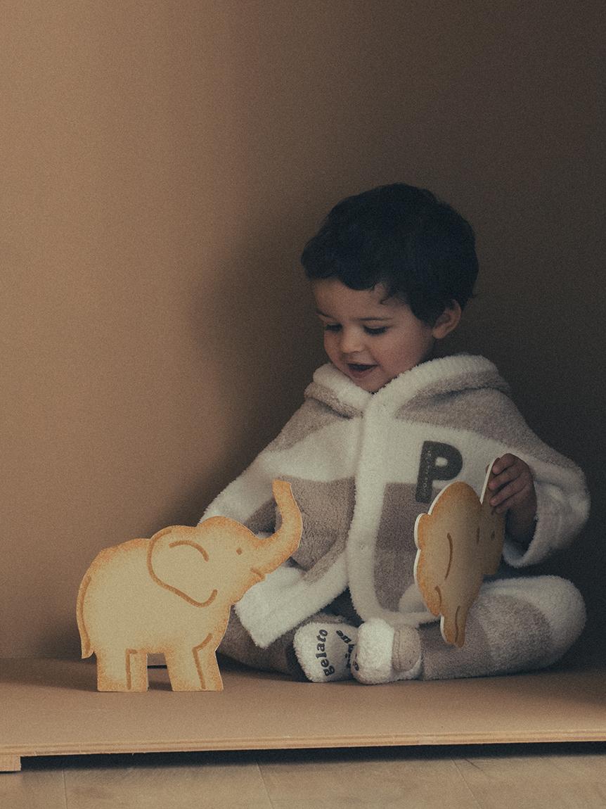 【BABY】baby moco 條紋編織斗篷