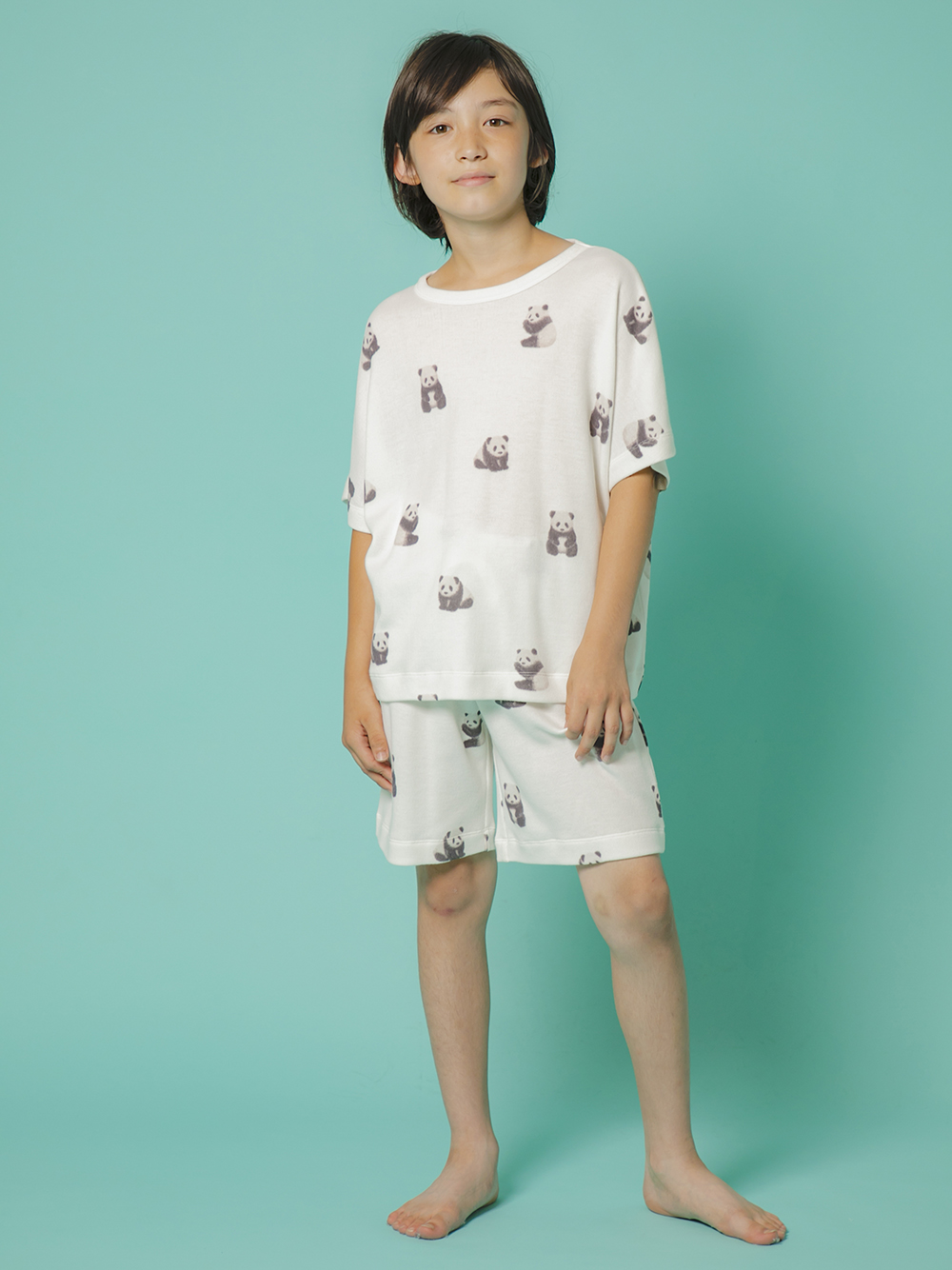 【ONLINE限定】【JUNIOR】熊貓圖案上衣&短褲