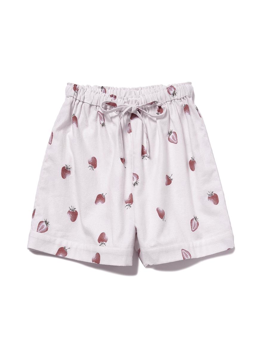【JUNIOR】 【ONLINE限定】草莓印花法蘭絨短褲
