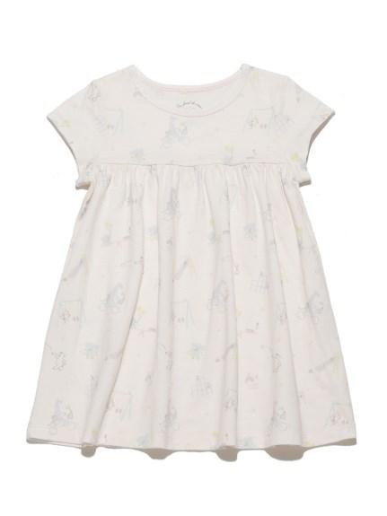 小動物主題印花kids連身裙