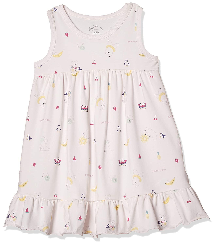 【KIDS】北極熊水果圖案洋裝
