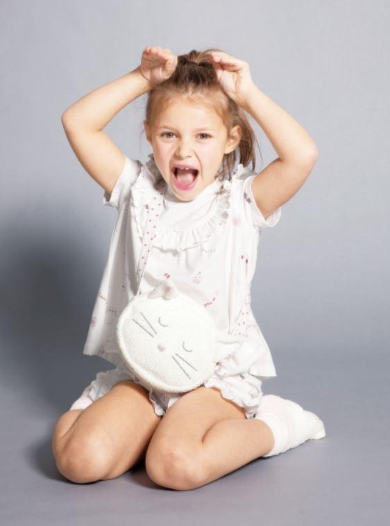 【KIDS】手繪印花荷葉邊kids上衣