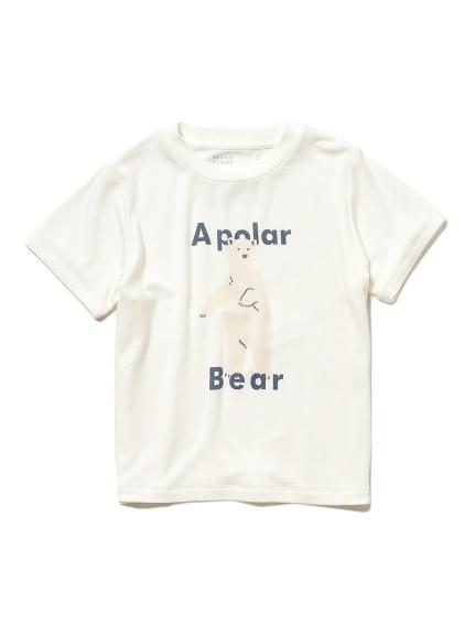 白熊 大圖案涼感Kids T-Shirt