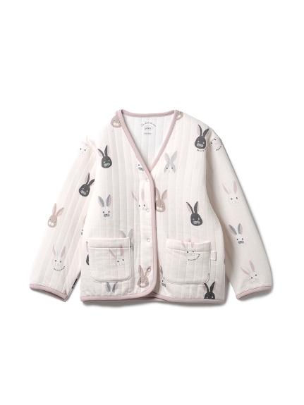 兔子圖案kids開襟衫