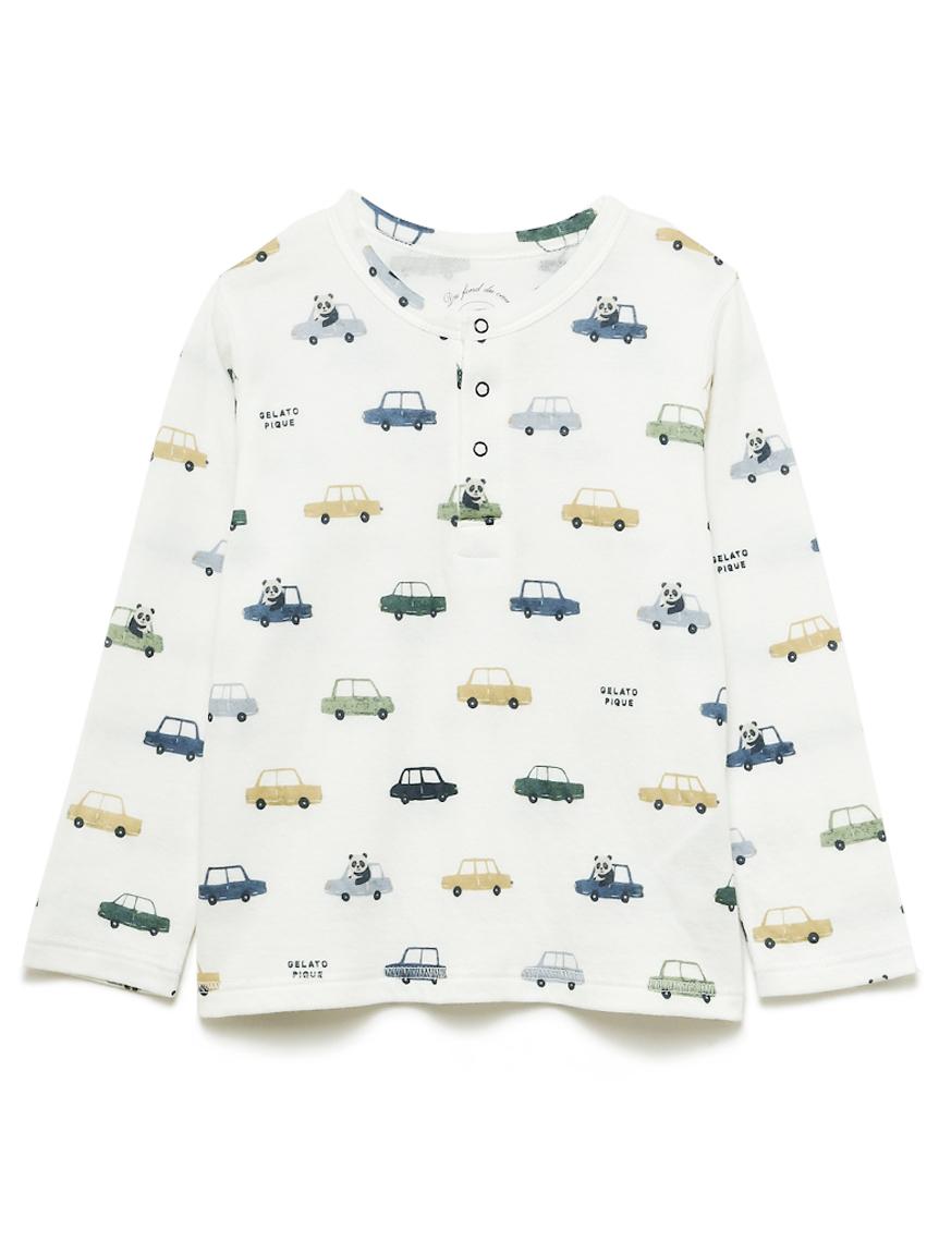 【KIDS】熊貓車車孩童上衣