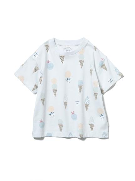 【KIDS】冰淇淋動物印花 涼感T-Shirt