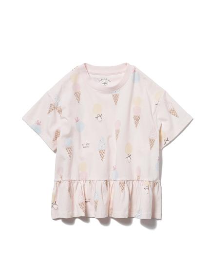【KIDS】冰淇淋動物印花 涼感荷葉邊T-Shirt