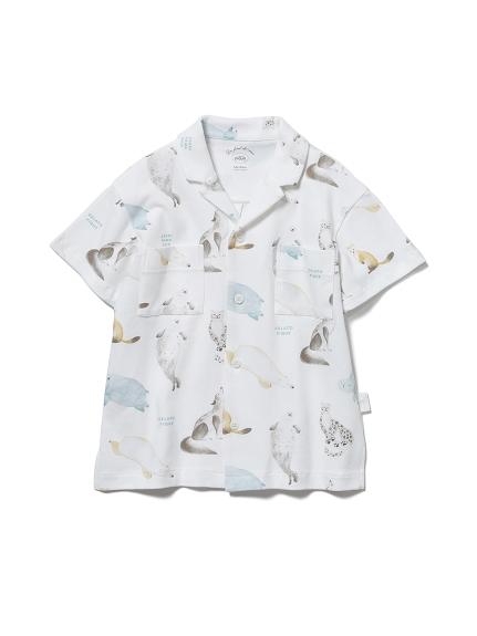 【KIDS】【旭山動物園】動物印花 童裝襯衫