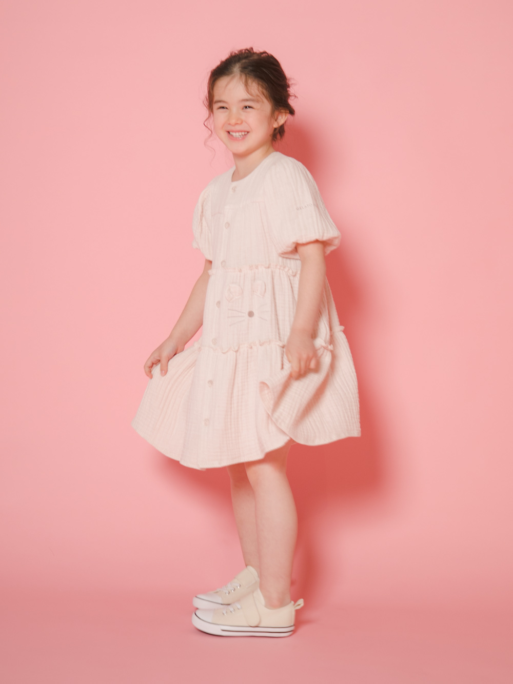 【KIDS】動物造型純棉 兒童洋裝