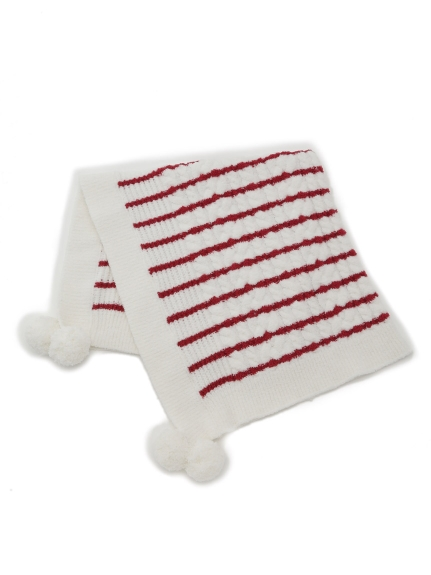 麻花條紋baby毛毯
