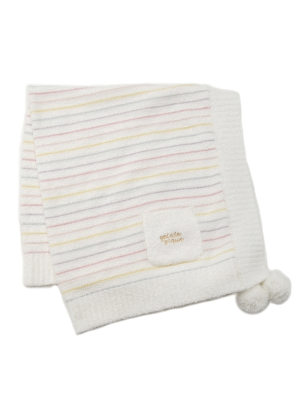 ' smoothie ' 配色條紋kids毛毯