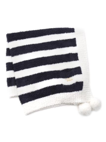 ' babymoco ' 2條紋LOGO kids毛毯